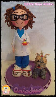 Cristina Camps Fofuchas: Fofucha laboratorio con perro