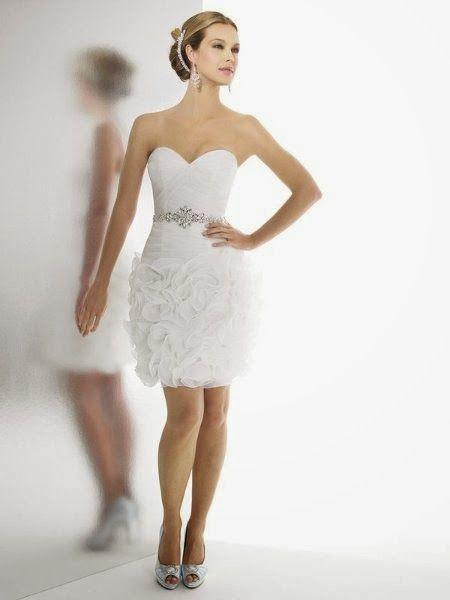 hermosos vestidos de novia cortos para boda civil | wedding gowns