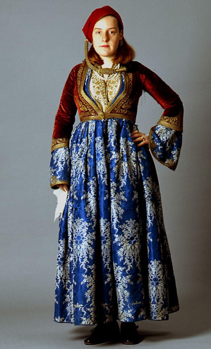 Amalia costume, Nafplion, Argolida, Peloponnese, Greece