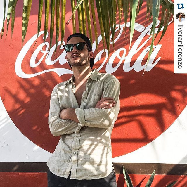 #Repost @liveranilorenzo with @repostapp. ・・・ Mexican shadows #mexico #playadelcarmen #yourmirrorstyle #120percento #120lino #summer #shirt #travel #travelling #mexico #linen #fashion #men
