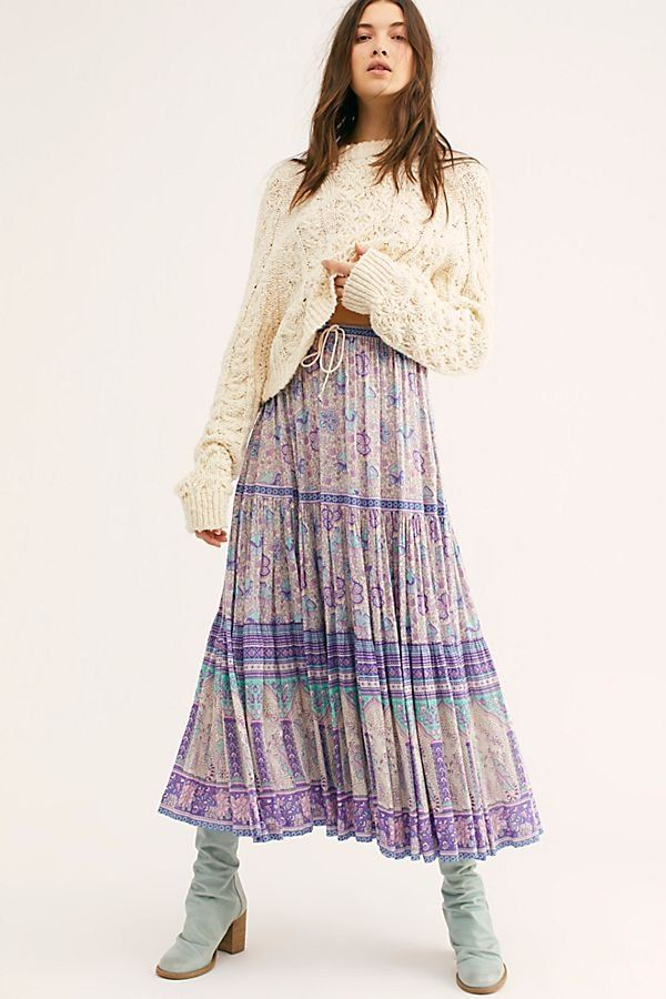 0c64f7211225 Poinciana Maxi Skirt - Purple Floral Maxi Skirt - Lightweight Maxi Skirts -  Flowy Maxi Skirts - Purple Floral Skirts - Floral Maxi Skirts - Free People  ...