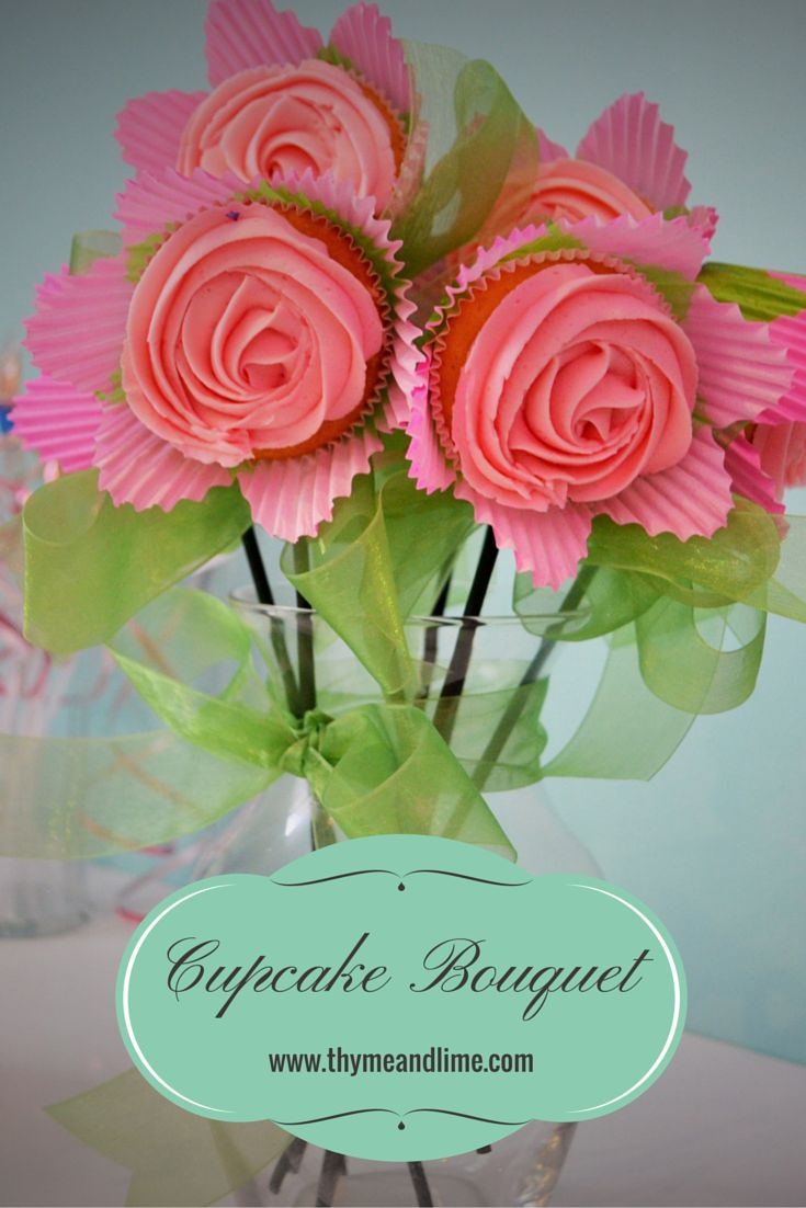 17 best wedding images on pinterest decorating cakes birthdays learn how to make adorable cupcake flower bouquets perfect for a garden or fairy themed izmirmasajfo