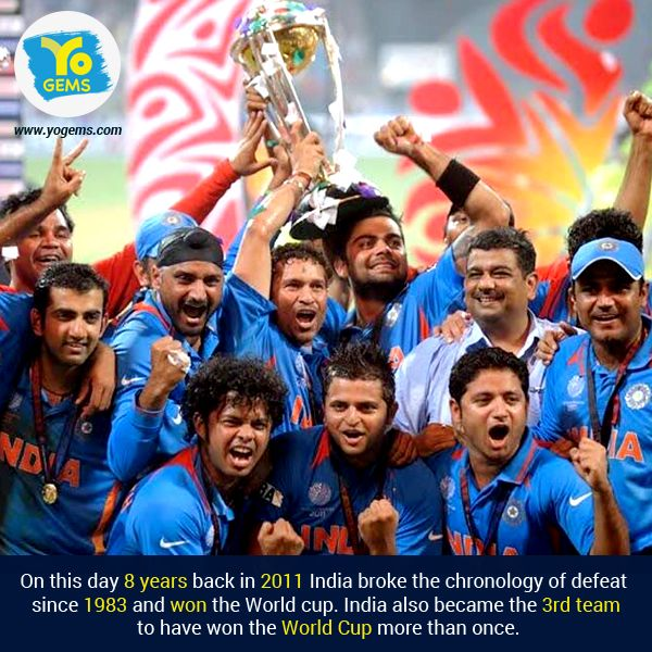 8 Years Ago Today India Became The Worldchampion End Of 28 Years Of Drought Iccworldcup Msdhoni Indiancric With Images Cricket World Cup Cricket Teams World Cup News