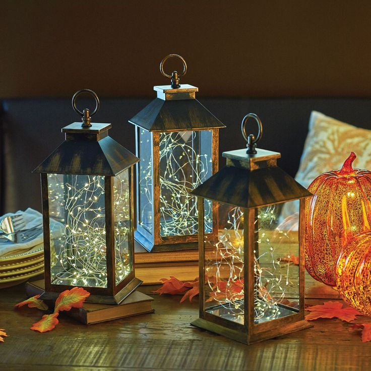 more than just a halloween decoration these stylish lanterns can be used throughout the year - Halloween Fall Decorations