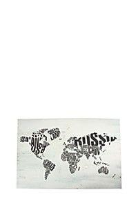 WORLD MAP 60X90CM CANVAS