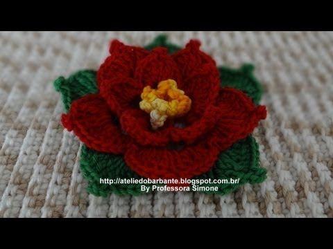 Linda flor para decoração de natal.