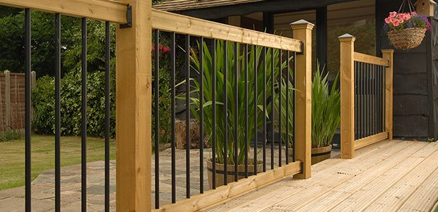 Railsimple Traditional Wood Metal Deck Railing Vancouver