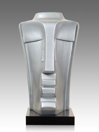 Artist:  BIMAL KUNDU Title:  CRYING BUDDHA Medium:  FIBERGLASS Size:  53X32X31 Exhibition:  50th Annual Exhibition, 2017 Price:  1,00,000/-