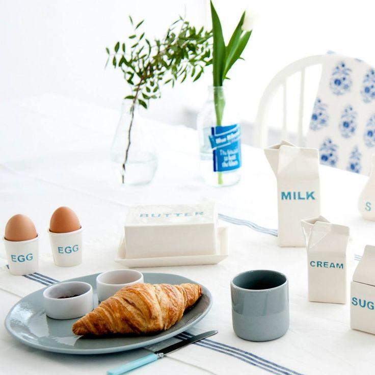 No te pierdas las colección inglesa de recipientes de cerámica que hemos traído de Sorbet Living y decora tus desayunos, la comida más importante del día;  Recuerda: desayuna como un rey, come como un príncipe y cena como un mendigo. #desayuno #inglés #sorbetliving #viloop