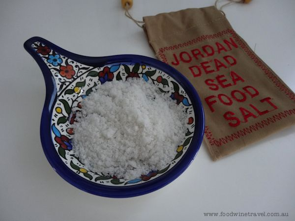 Jordan ceramics and Dead Sea salt are among the goodies in my kitchen this month. www.foodwinetravel.com.au