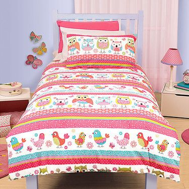 Kids House Fat Bird Quilt Cover Set Single | Spotlight New Zealand