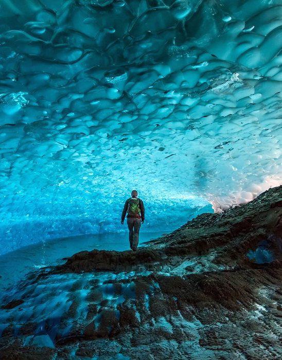 Cuevas de hielo de Mendenhall, Juneau, Alaska