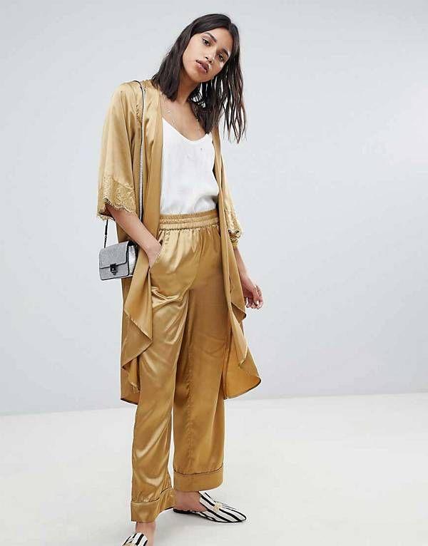 2e9445c43a23 Sofie Schnoor longline lace detail kimono   wide leg trouser co-ord ...