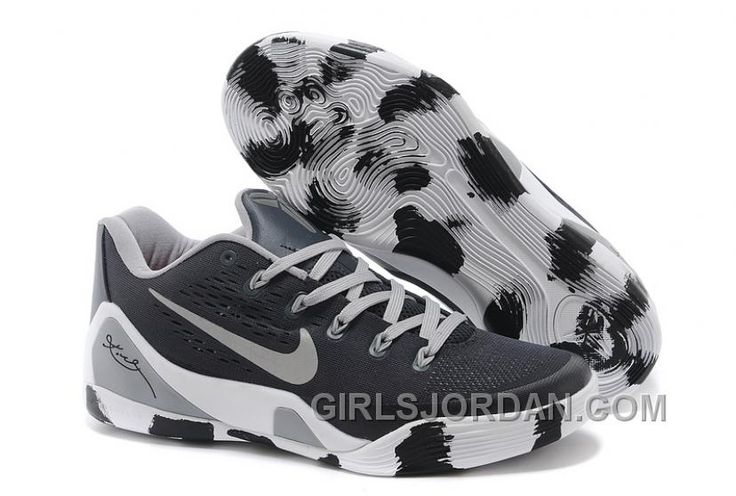 first rate d76bd 10824 Buy Nike Kobe 9 Low EM Black White Grey Mens Basketball Shoes Discount from  Reliable Nike