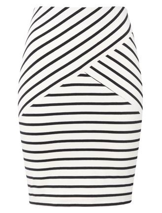 #Frenchconnection jersey skirt is a wardrobe staple in a flattering stripe design.