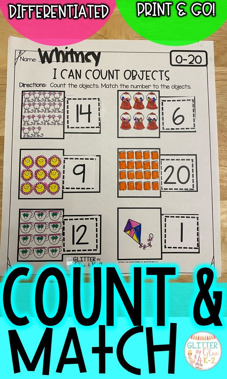 Count And Match 0 20 Differentiated Differentiation Activities Differentiation Counting Activities [ 1226 x 736 Pixel ]
