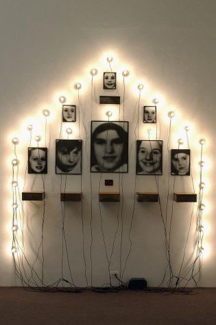 Christian Boltanski. Monument; Just on of his pieces in his body of work which is based on photographs of holocaust victims.