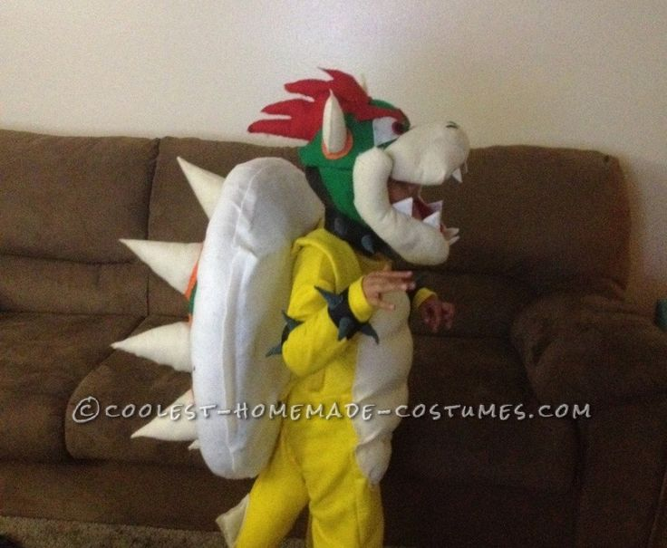 Cool DIY Bowser (King Koopa) Halloween Costume for a Boy... This website is the Pinterest of costumes