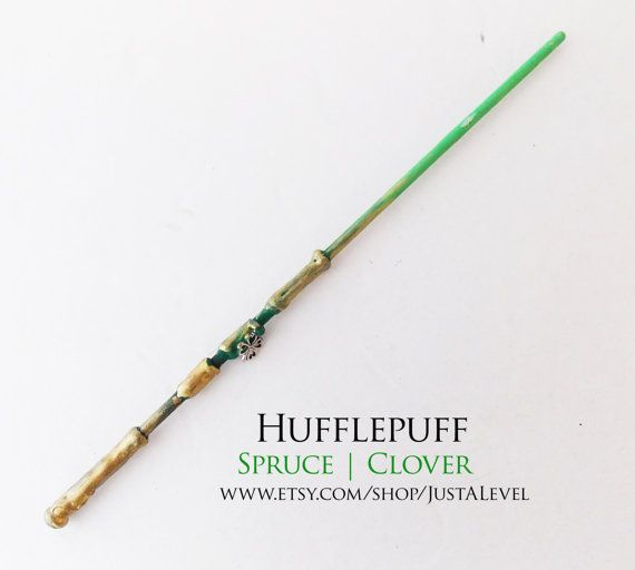 Lucky Gold Harry Potter Inspired Wand Hufflepuff by JustALevel