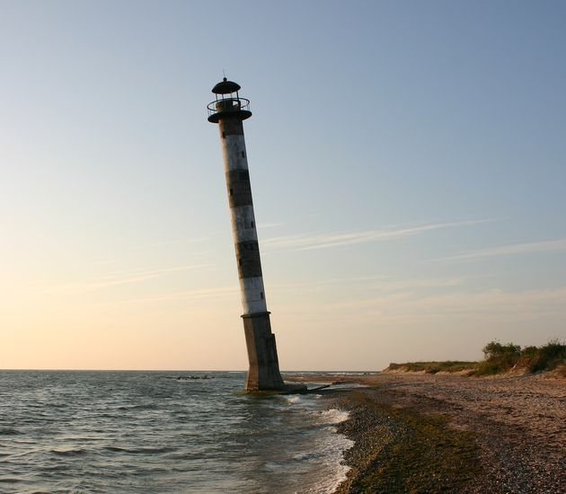 The Leaning Kiipsaare Lighthouse Watches Silently Over the Baltic