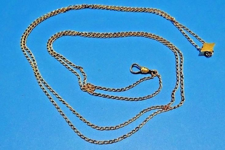 Ladies Elegant Gold Filled Watch Chain c/w Turquoise & Pearl Slider