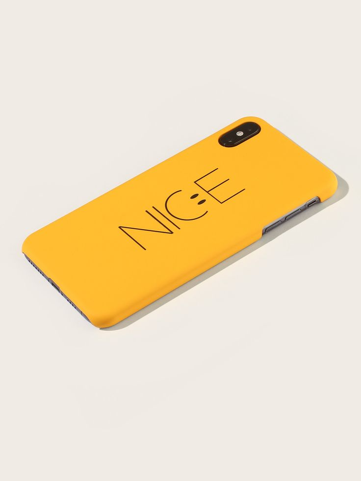 Ad yellow letter print iphone case tags pc phone cases