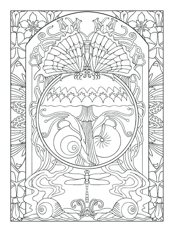 art nouveau coloring book and art coloring pages art nouveau ...