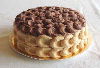 tarta de turron y chocolate