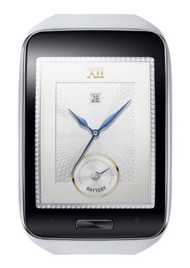 The white Samsung Gear S.