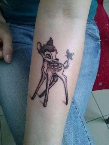 Tenerissimi tatuaggi ispirati a Bambi