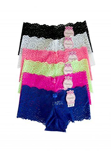 MaMia 6 Pack of Women's Lace Boyshort Panties >>> Find out more about the great product at the image link.