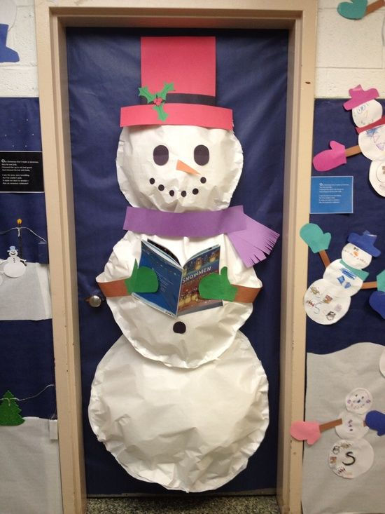 Snowman Door Decor Snowman Door Frvor Pinterest