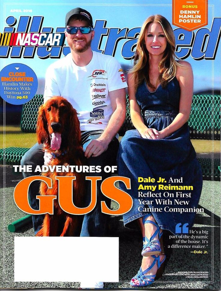 NASCAR Illustrated April 2016 - Adventures of GUS, Dale Jr & Amy Reimann Cover