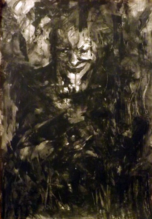Yup I know he looks like Joker :PThere are pictures of demons : Unnamed ( Joker) 100x70 , Depression and Anger 70x50It could work like mirrors on people