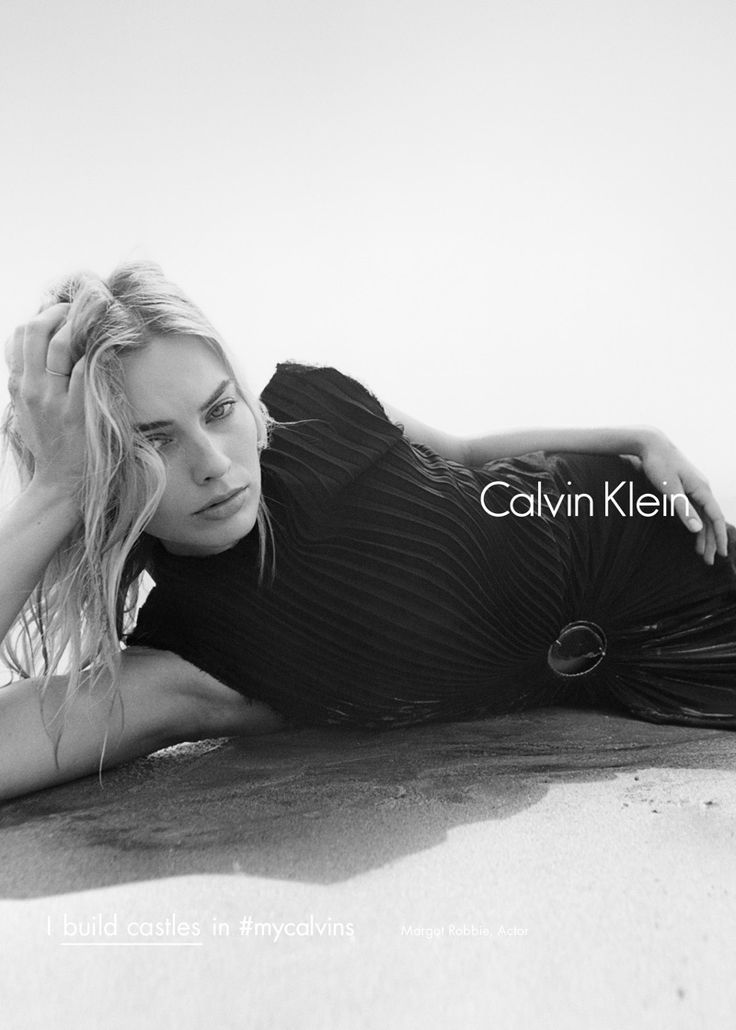Margot Robbie for Calvin Klein Fall/Winter 2016 Campaign (Black & White)