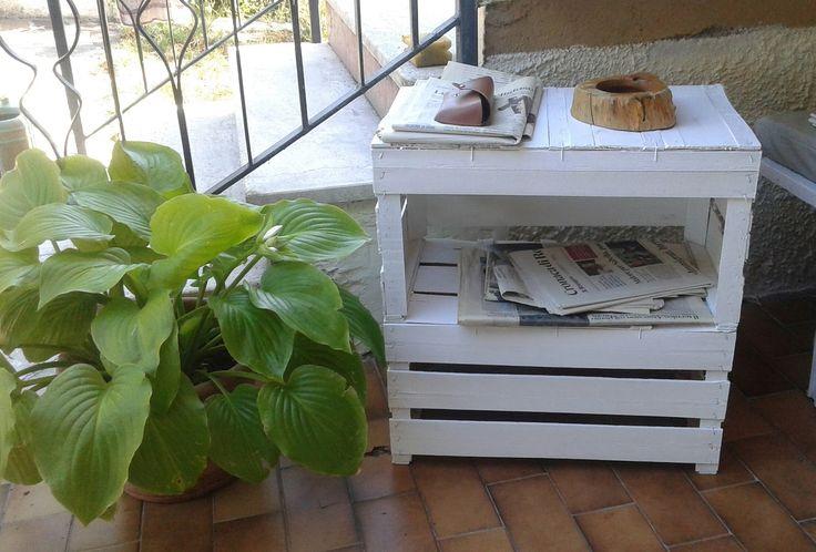 Centomilaidee: Tavolino con cassette per la frutta