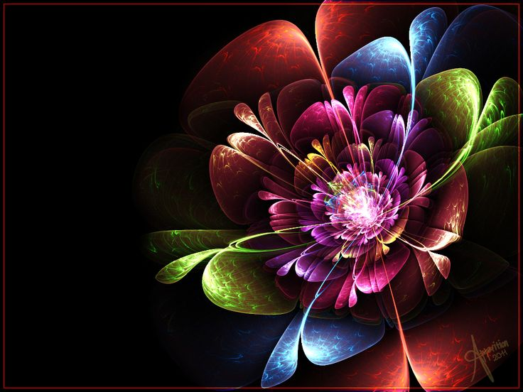 rainbow flowers wallpaper paintings - photo #3