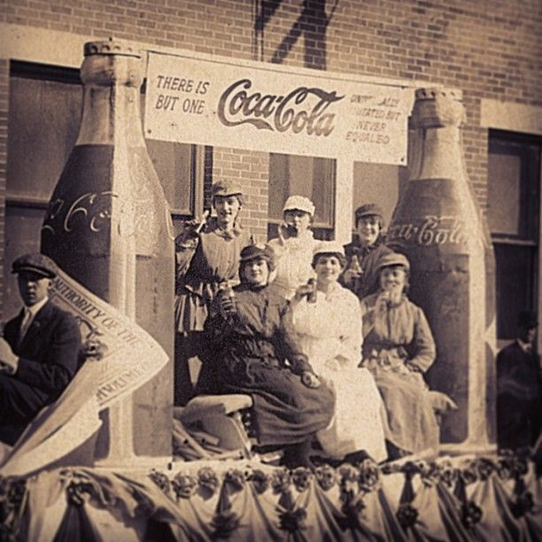 Posing in front of the Edgewood Avenue Coca-Cola Bottling Company plant in Atlanta in 1920