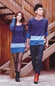 Dress Kombinasi  Nama Baju Couple: Dress Kombinasi  Bahan: Combed  Ukuran  Cowok: L Cewek: M Berat: 360.00 gr  Harga: Rp.155,000.00