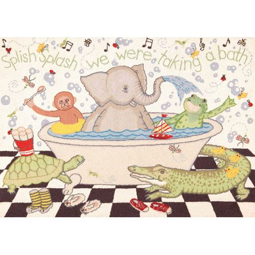 Splish Splash Rug from PoshTots....a must have for tub time!