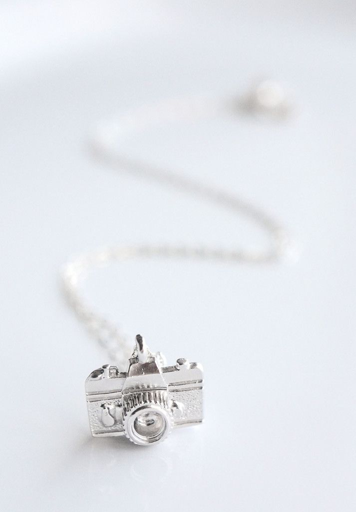 Sterling Silver Camera Necklace - perfect gift for photographers - Handmade by Belleza Mia Jewelry in Portland, OR