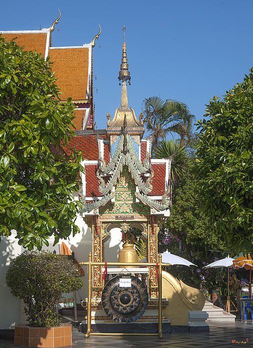 2013 Photograph, Wat Phratat Doi Suthep Bell Tower, Tambon Suthep, Mueang Chiang Mai District, Chiang Mai Province, Thailand. © 2013.  ภาพถ่าย ๒๕๕๖ วัดพะรธาตุดอยสุเทพ หอระฆัง ตำบลสุเทพ เมืองเชียงใหม่ จังหวัดเชียงใหม่ ประเทศไทย