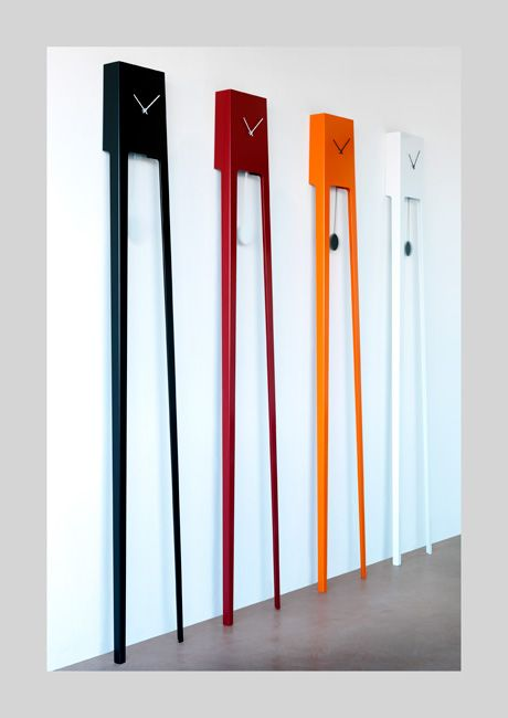 The Tiuku clock is a modern take on a classic pendulum clock. Available on FormAdore.com