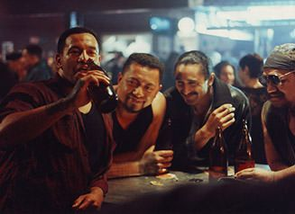 Jake drinking with his mates at their local....Once Were Warriors 1994