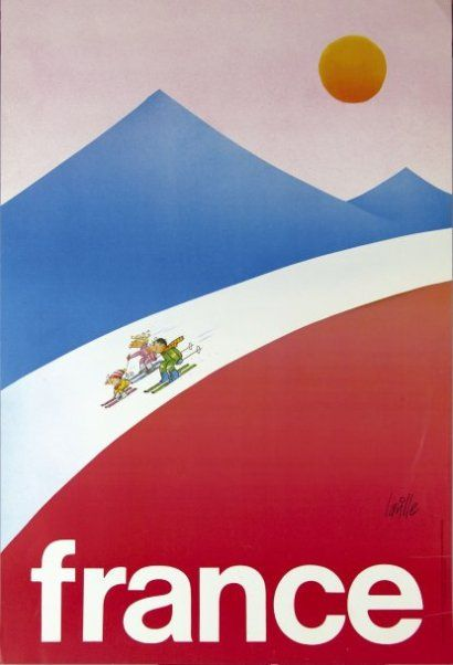 France ski poster