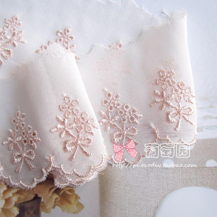 DIY håndlaget broderi Materialer bukett AV blek chiffon blondere bow - Taobao