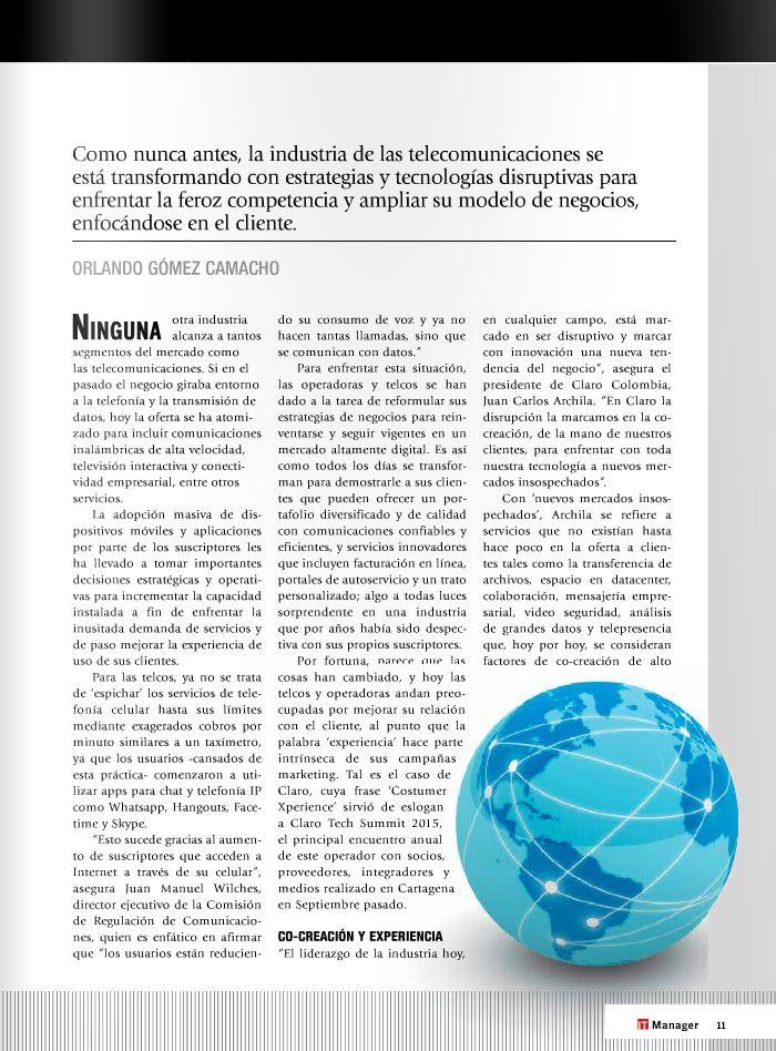 Las telcos se transforman con servicios disruptivos