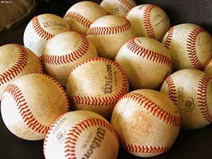 Fond d'écran de Beaucoup de Balles de Baseball