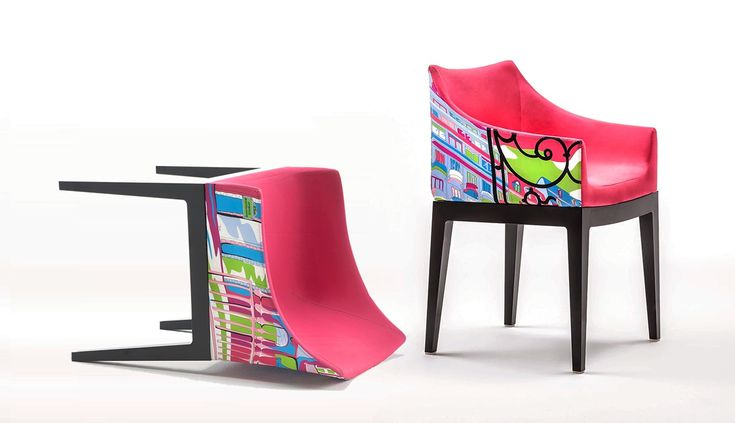 Madame World of Emilio Pucci Edition is an armchair designed by Philippe Starck; upholstered in a limited edition print inspired by the city of Milan and designed by Pucci. Part of the same collection, Cities of the World by Emilio Pucci, are also versions inspired by the cities of Paris, Rome, Shanghai and New York.   @emiliopucci @kartelldesign