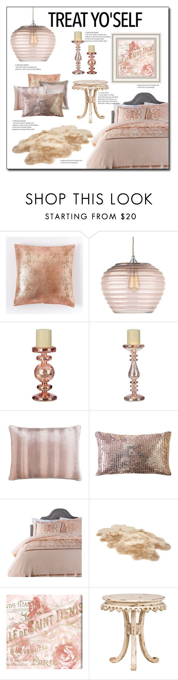 """Bedroom Redesign in Rose Gold (Blush)"" by ladydivaboss ❤ liked on Polyvore featuring interior, interiors, interior design, home, home decor, interior decorating, West Elm, Heathfield & Co., Frontgate and Ted Baker"